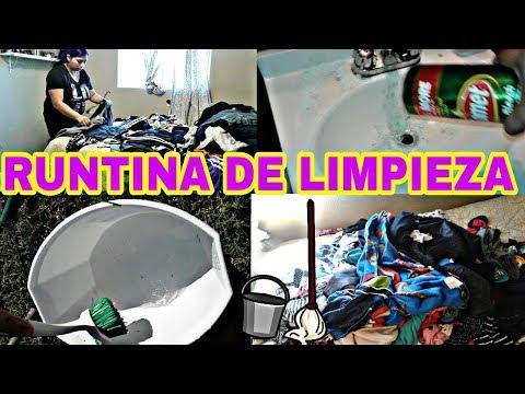 MI RUTINA DE LIMPIEZA EN CASA/ LIMPIEZA POR LA TARDE/ AMA DE CASA LIMPIANDO Y DOBLANDO ROPA