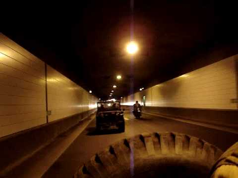 Harley Davidson WLA's and WLC's with sirens in a tunnel