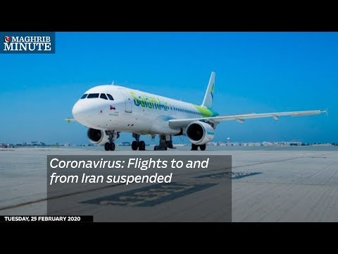Coronavirus: Flights to and from Iran suspended