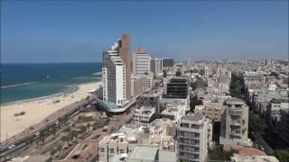 Израиль Тель - Авив, Панорама с Башни Исротель, День и Ночь