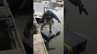 How to install dock floats in the water