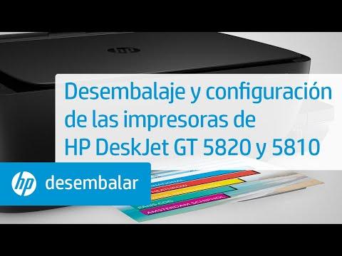 Desembalaje y configuración de las impresoras de HP DeskJet GT 5820 y 5810