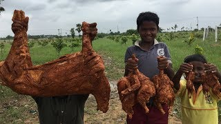 Steamed Mutton and Chicken Gravy - Cooking a Lamb with 3 Chickens and 3 Quails in My Village