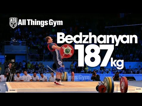 David Bedzhanyan 187kg Snatch Almaty 2014 World Weightlifting Championships