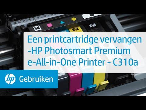 Een printcartridge vervangen -HP Photosmart Premium e-All-in-One Printer - C310a