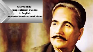 Allama Iqbal | Inspirational Quotes in English | Powerful Motivational Video