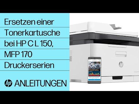Ersetzen einer Tonerkartusche bei HP Color Laser 150, MFP 170 Druckerserien