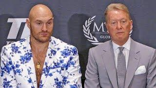 Tyson Fury * POST FIGHT PRESS CONFERENCE * vs. Tom Schwarz | MGM Las Vegas