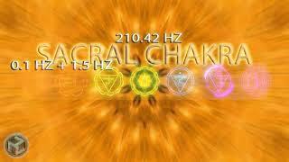 SACRAL CHAKRA:210.42 Hz|Deepest Sleep Meditation & Chakra Energies|1.5hz Universal Healing Frequency