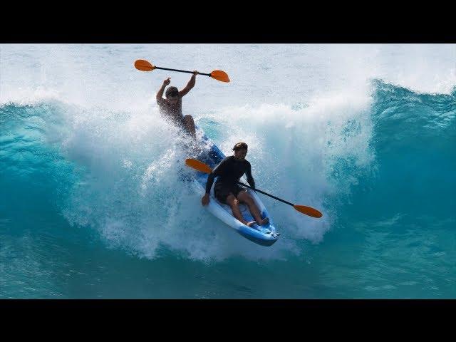 CRAZY KAYAK SURFING AT PIPELINE   JAMIE O'BRIEN