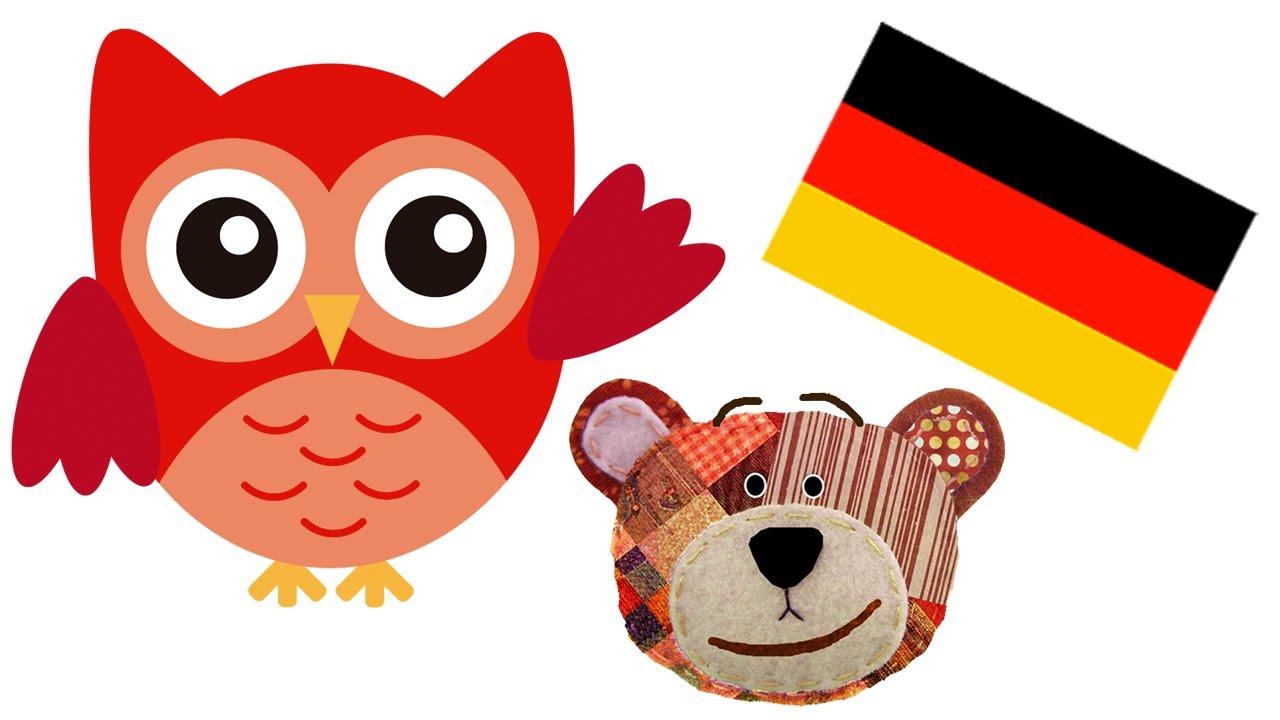 Traposo enseña los animales del bosque en alemán