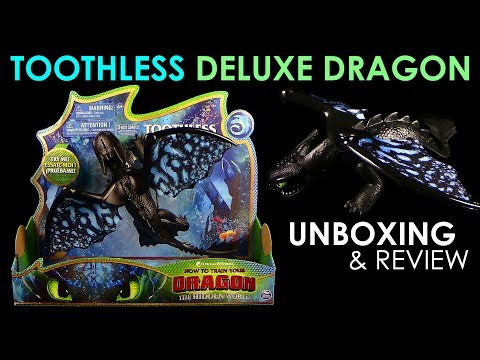 Dragons 3 - Toolthless Deluxe Dragon / Ohnezahn !!! NEU !!! Unboxing & Review