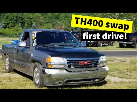 TH400 Swapped Turbo LS GMC First Drive!! Goldie Hawn is BACK!