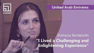 Stefania Badariotti: Scalabl Is a Challenging and Enlightening Experience | Dubai, UAE