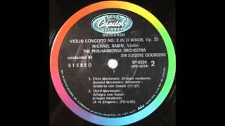 Wieniawski , Violin Concerto No 2, Michael Rabin, Violin