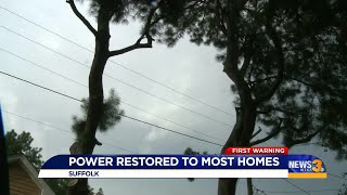 power restored to Suffolk neighborhood