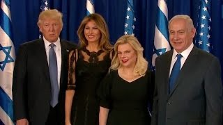 Trump And Netanyahu Speak, Pose With Wives - Full Event