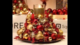 Christmas Centerpieces Tutorial No.3, Centre De Table Pour Noël Tutoriel