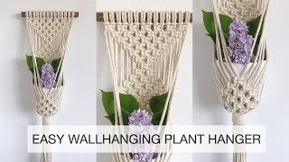 HOW TO MAKE A MACRAME WALLHANGING PLANT HANGER | MACRAME TUTORIAL | EASY MACRAME PLANTHANGER #3