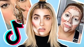 Trying EVERY Viral TikTok Makeup Life Hack In 1 Video! by RCLBeauty101