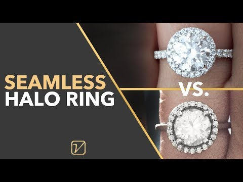 SEAMLESS HALO RING | What is a Seamless Halo Engagement Ring?