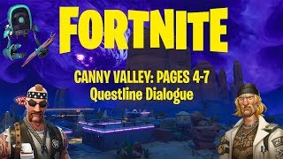 Fortnite | Canny Valley: Pages 4-7 | Questline Dialogue