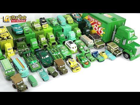 Learning Color Number Special Disney Pixar Cars Lightning McQueen Mack Truck Green for kids car toys