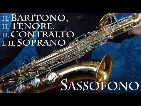 SASSOFONO: il Baritono, il Tenore, il Contralto e il Soprano