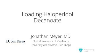 How to Load Haloperidol Decanoate