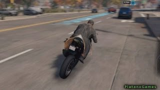 Watch Dogs - Motorcycle Gameplay Clip - PlayStation 4 - HD