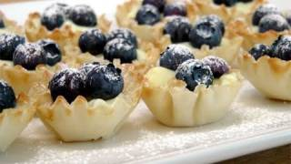 Blueberry Lemon Tartlets – Recipe by Laura Vitale – Laura in the Kitchen Episode 96