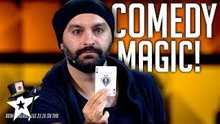 Magician Puts A Comedy Spin On His Magic  Italia Got Talent 2019 | Magicians Got Talent