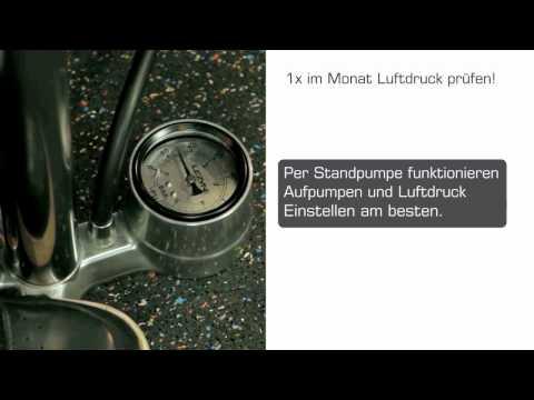 Mit richtigem Luftdruck fahren! - German