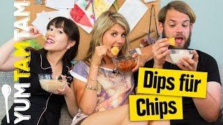 Dips Für Chips // Salsa, Knoblauch & Bacon-Cheese // #yumtamtam
