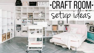 Craft Room Tour // Craft Room Ideas