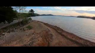 FPV Cinematic Freestyle Drone-Sunset Footage at Harrison Bay-Getting Busted