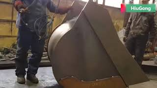 HiuGong: Excavator bucket manufacturing process   Big change start from a steel plate!