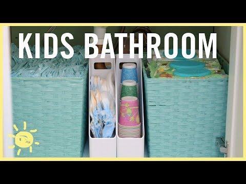 ORGANIZE | Kids Bathroom!! (Easy Tips)