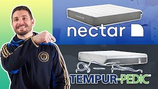 Nectar vs TempurPedic | Memory Foam Mattress Review (MUST WATCH)
