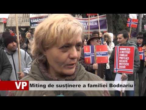Miting de susținere a familiei Bodnariu