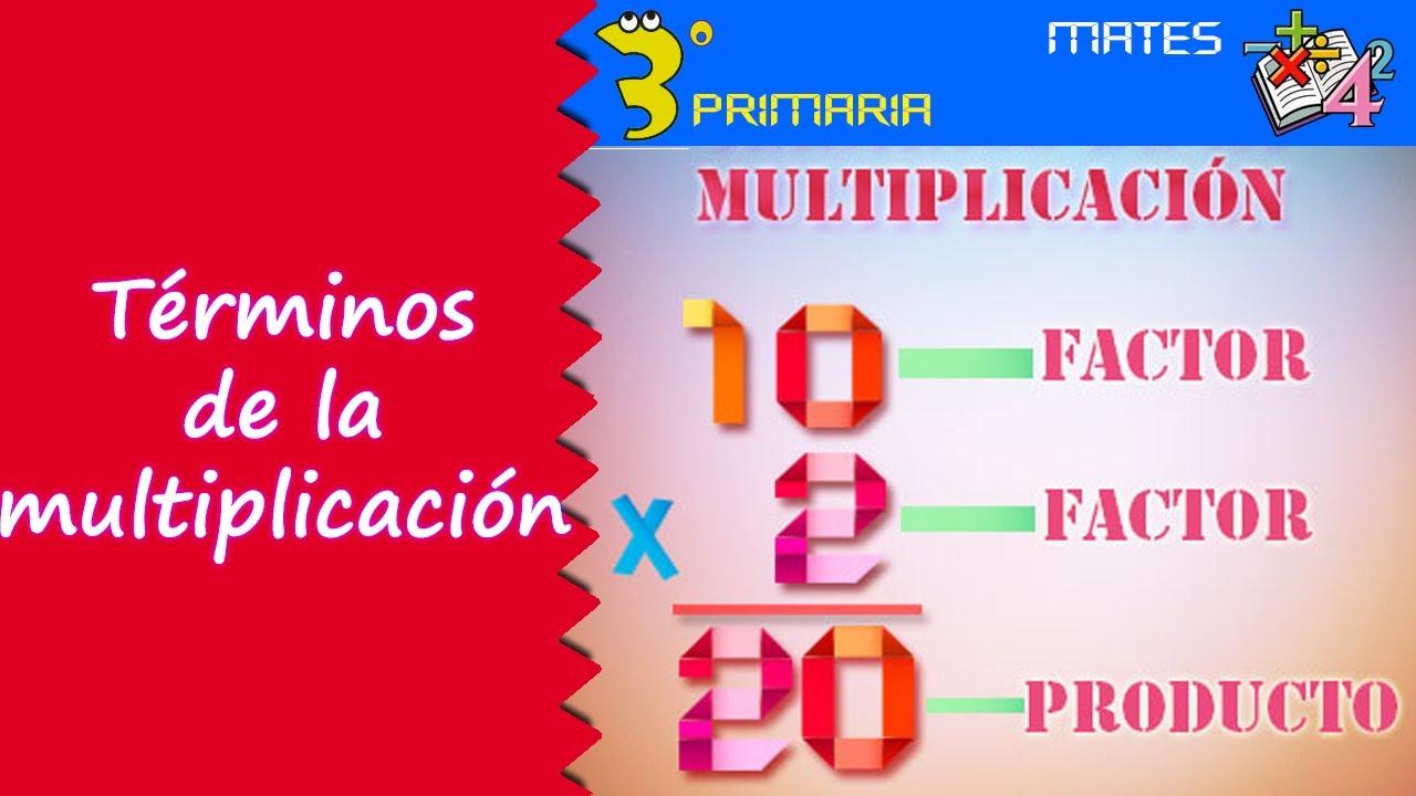 Matemáticas. 3º Primaria. Tema 3. La multiplicación y sus términos
