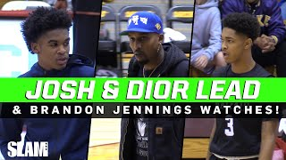 Jaygup & Dior Johnson BATTLE TOUGH GAME against SCRAPPY TEAM with BRANDON JENNINGS watching!
