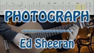 PHOTOGRAPH _ ED SHEERAN ( tuto guitar _ fingerstyle cover _ with TAB ) LAP