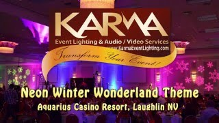 Creating a Neon Winter Wonderland with Lighting & Video by Karma Event Lighting