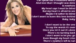 Trisha Yearwood - I Don't Want To Be The One (+ lyrics 1998)