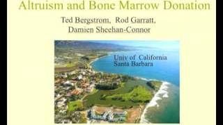 preview picture of video 'Ted Bergstrom on Altruism and Donations to the Bone Marrow Registry'