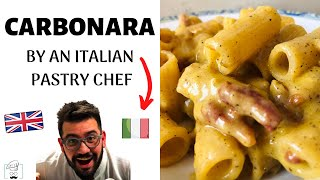 How To Make Carbonara Pasta | Made By An Italian Pastry Chef (ITA SUBS)