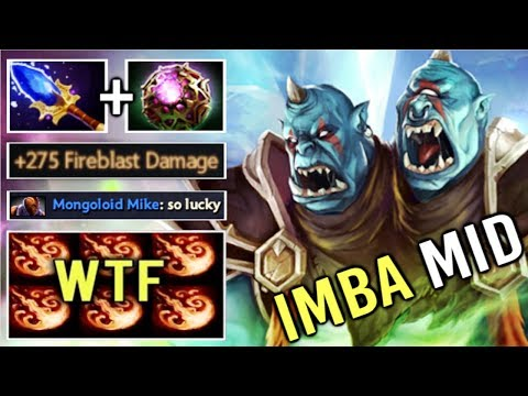 WTF ENDLESS STUN Scepter Ogre Magi Mid Delete Tinker and AM Epic Gameplay by Topson OG vs Pub Dota 2