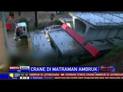 4 Pekerja Tewas Tertimpa Crane Proyek Double Track