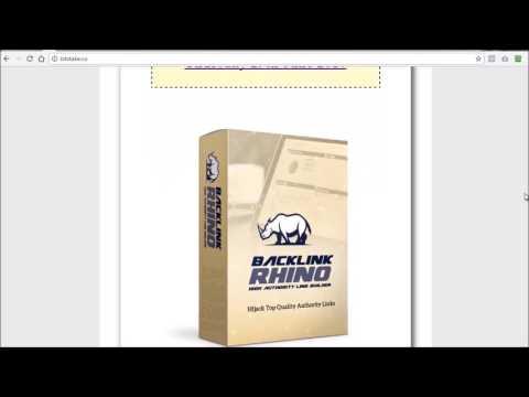 BacklinkRhino Review (Wikipedia Backlink Software)